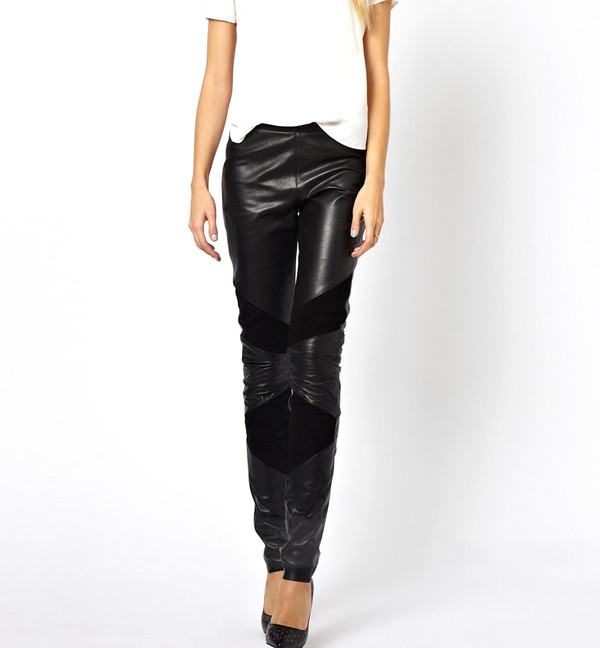 leggings leather leggings black cool punk streetstyle summer outfits