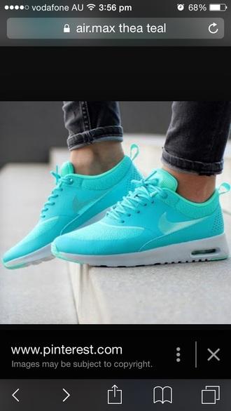 shoes nike air max thea teal