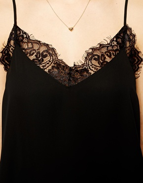 ASOS | ASOS Woven Cami with Lace Neckline at ASOS