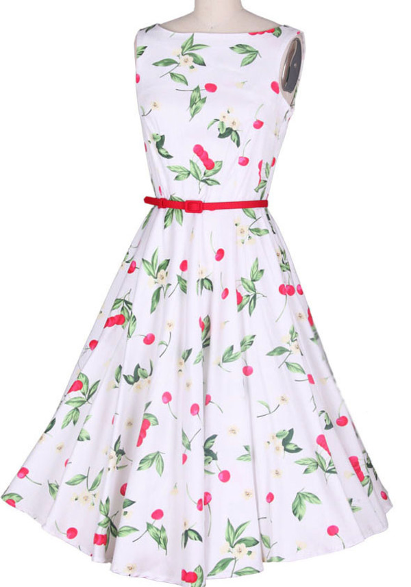 50s style print prom dress evening dress wedding dress 50s style vintage vintage dress print dress white dress