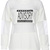 ROMWE | ROMWE Letters Print Mesh Panel White Sweatshirt, The Latest Street Fashion
