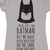 Ladies Grey Marl DC Comics Batman Slogan T-Shirt : TruffleShuffle.com