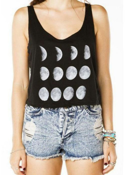 space moon phases of the moon t-shirt tank top