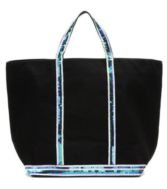 Vanessa Bruno Cabas Medium Embellished Canvas Shopper in black