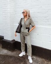 jumpsuit,sunglasses,shoes,bag