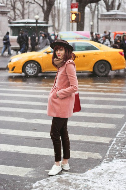 steffy's pros and cons blogger hat pink coat