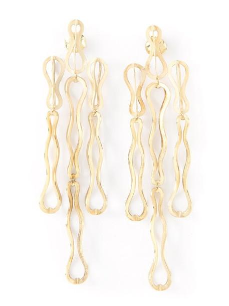 Antonio Bernardo women earrings gold grey metallic jewels