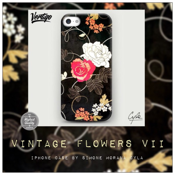 jewels flowers vintage fashion pattern iphone case girly