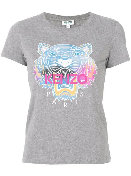 Kenzo t-shirt shirt t-shirt women tiger cotton grey top