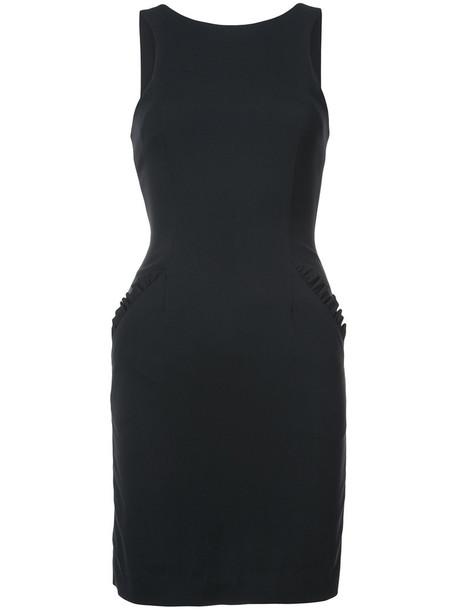 Thomas Wylde dress back women spandex black silk wool