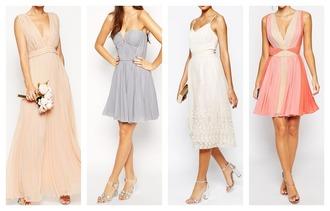 simple et chic blogger bridesmaid chiffon dress