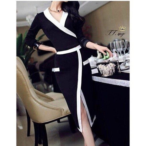dress black dress style fashion