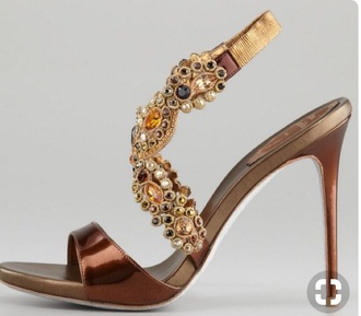 shoes bronze gold heels sandall