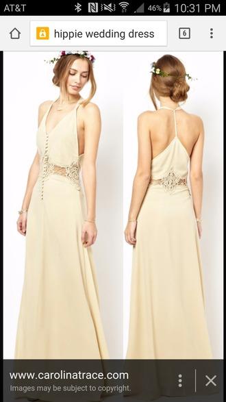 dress beige dress bridal gown