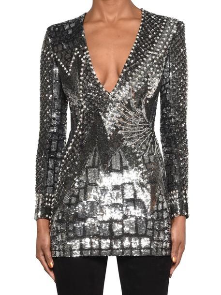 Balmain dress silver