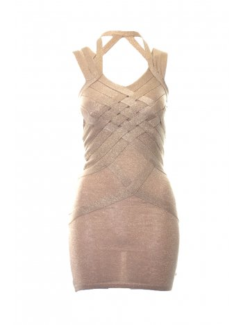 House Of Dereon Dress Strappy Shimmer In Gold | House Of Dereon By Beyonce | Sereneorder.com