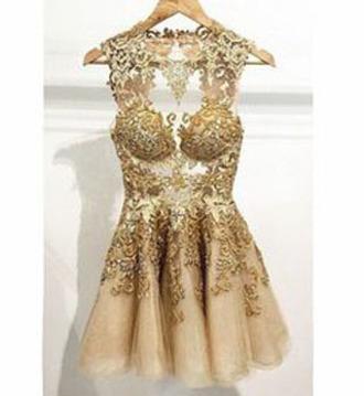 dress clothes gold dress homecoming dress prom dress flare dress skater dress gold party dress evening dress lace dress lace