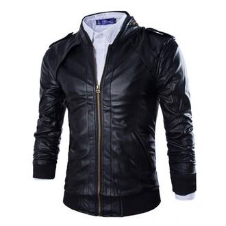 jacket black leather jacket mens faux leather biker jacket mens jacket