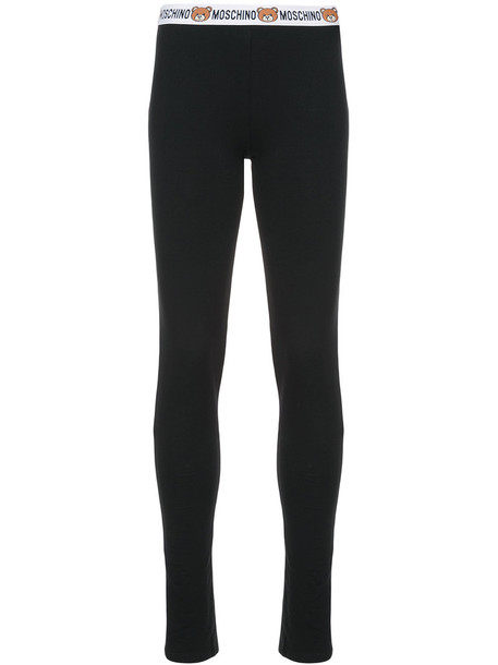 Moschino women spandex cotton black pants