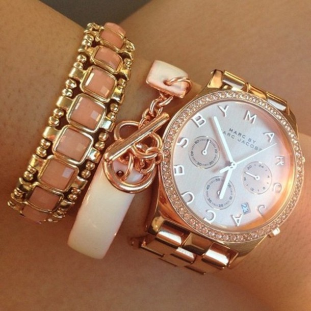 jewels watch gold marc by marc jacobs jewelry marc jacobs diamonds rose gold watch oversized watch marc jacobs watch