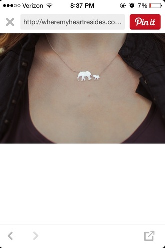 jewels silver necklace elephant necklace elephant