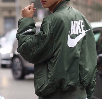 jacket bomber jacket mens jacket streetwear swag nike khaki army green jacket khaki bomber jacket coat