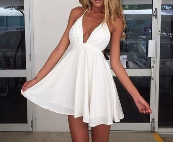 Outfit White Dress Dress White Summer Short Mini
