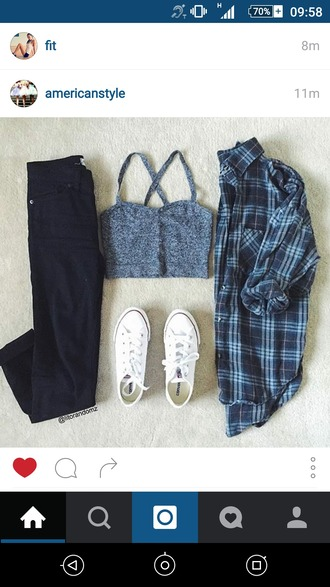 top grey black jeans white converse casual summer outfits