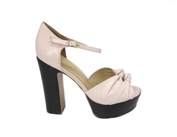 High Fashion Sandals - Light Pink High Heel Platform Sandals