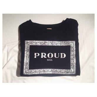 t-shirt proud luxury rich fashion chic