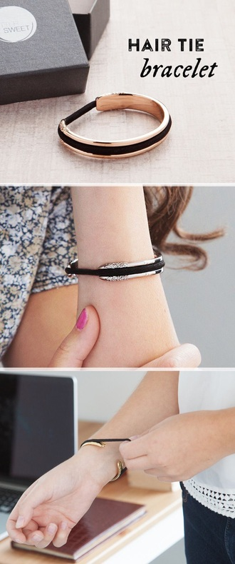 hair accessory tie bracelets jewels hair hair tie arm bracelet gold rose gold silver