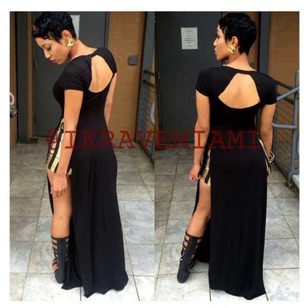 maxi dress t-shirt black dress beaded nice party shoes dress