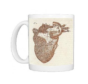 Amazon.com: photo mug of anatomy/heart/sibly: kitchen & dining