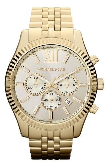 Michael Kors 'Large Lexington' Chronograph Bracelet Watch, 45mm | Nordstrom