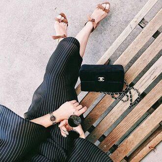 bag tumblr black bag velvet velvet bag chanel chanel bag sandals sandal heels high heel sandals sunglasses