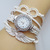 [grxjy51201253]Fashion Rhinestone Angel Wing Woven Bracelet Watch