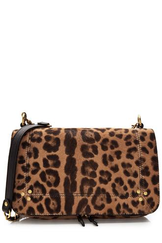 hair bag shoulder bag leather animal