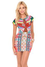 dress,luli fama,summer dress,multicolor,bodycon dress,bikiniluxe