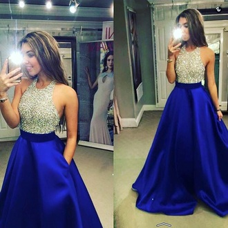 dress blue dress black dress sparkly dress prom dress 2016 long prom dress royal blue prom dress halter prom dress gown blue prom dress prom dress 2016 prom dress beaded prom dress sleeveless prom dress a-line prom dress