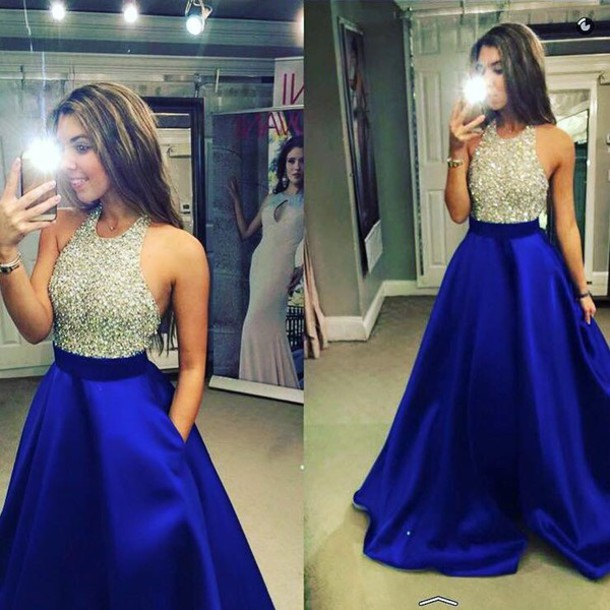 dress, blue dress, black dress, sparkly dress, prom dress 2016, long ...