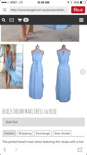 dress,beach dream maxi dress blue