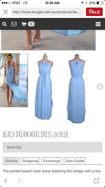 dress beach dream maxi dress blue