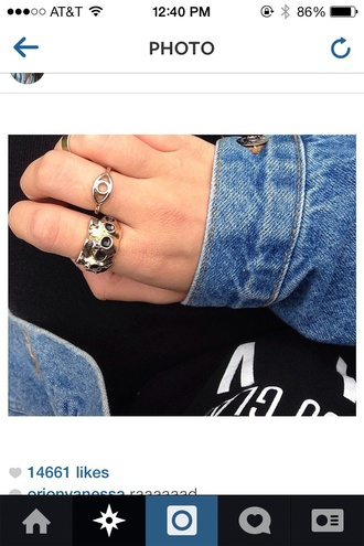 jewels ring skull gold black