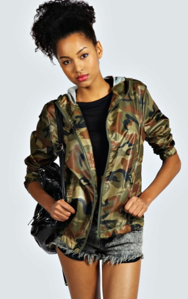 hoody hoodie top blouse stylish camouflage coat