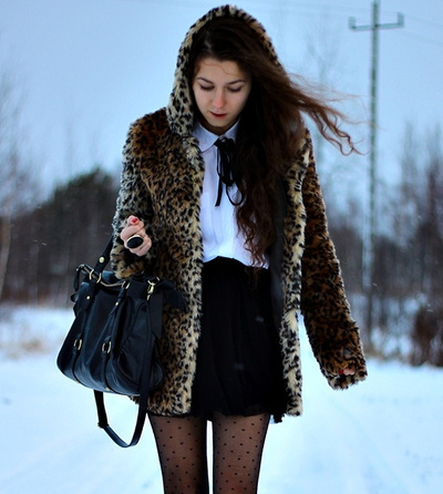Faux fur leopard coat · fashion struck · online store powered by storenvy