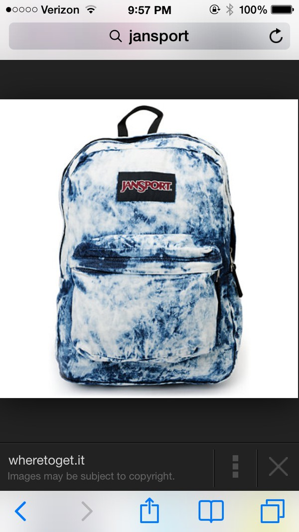 bag jansport acid wash