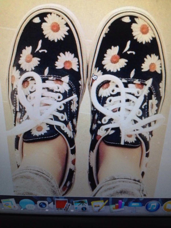 vans of the wall shoes fleurie blue black beautiful shoes. b1898332c