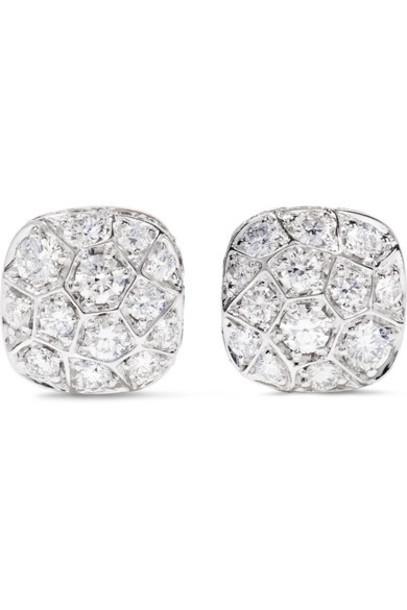 Pomellato - Nudo Solitaire 18-karat Rose And White Gold Diamond Earrings