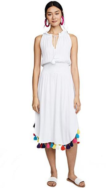 MISA dress rainbow white