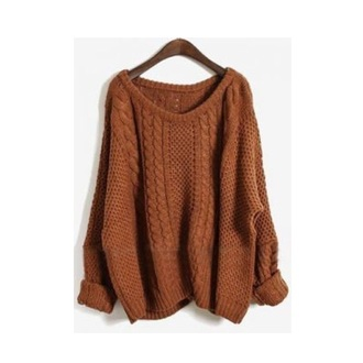 sweater burnt orange knitted sweater slouchy sweater